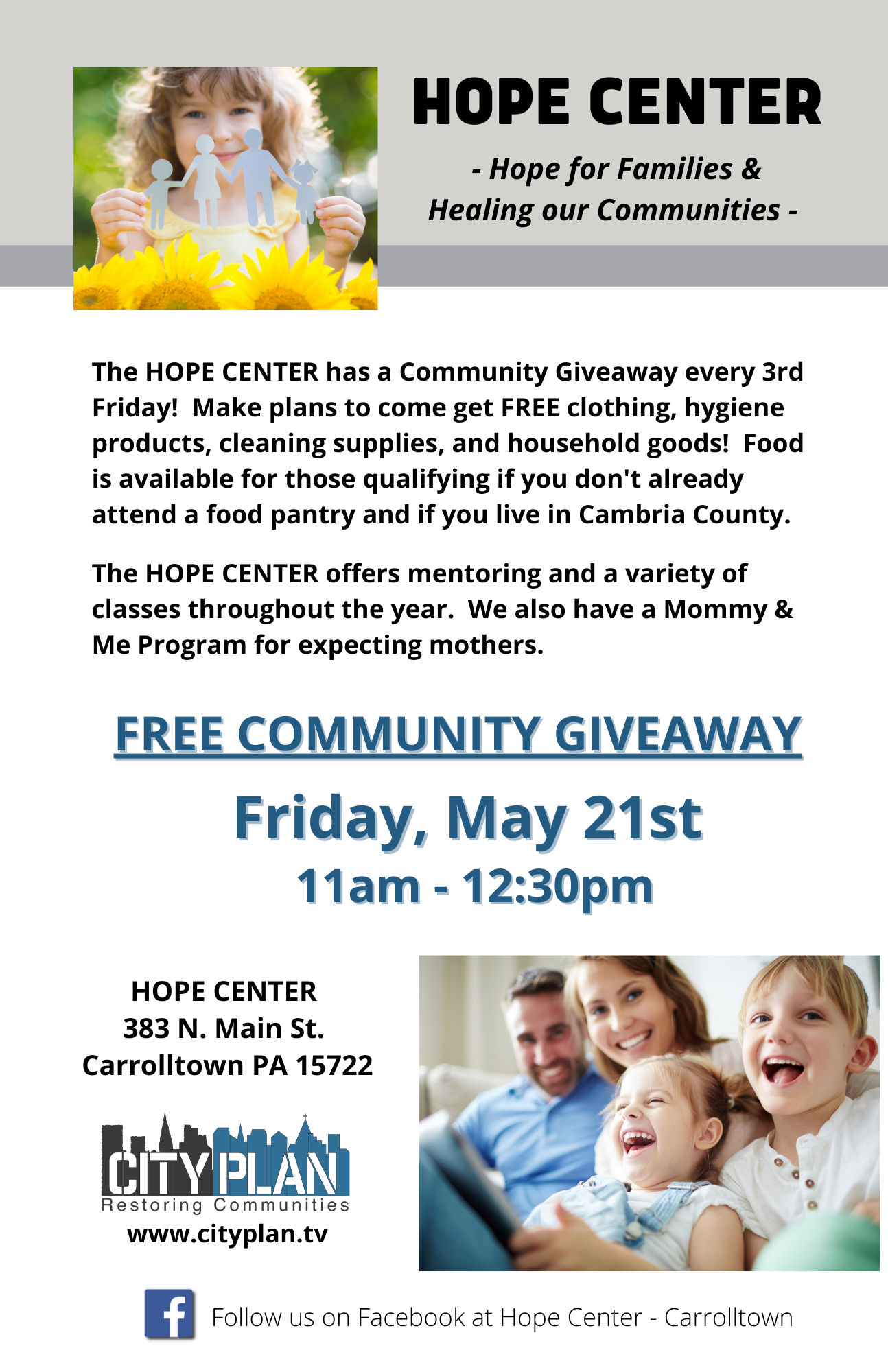 Hope Center Flyer - May 2021 (1 on page)